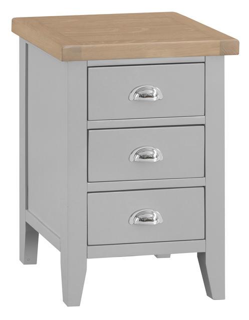 Verona Grey Large Bedside Cabinet
