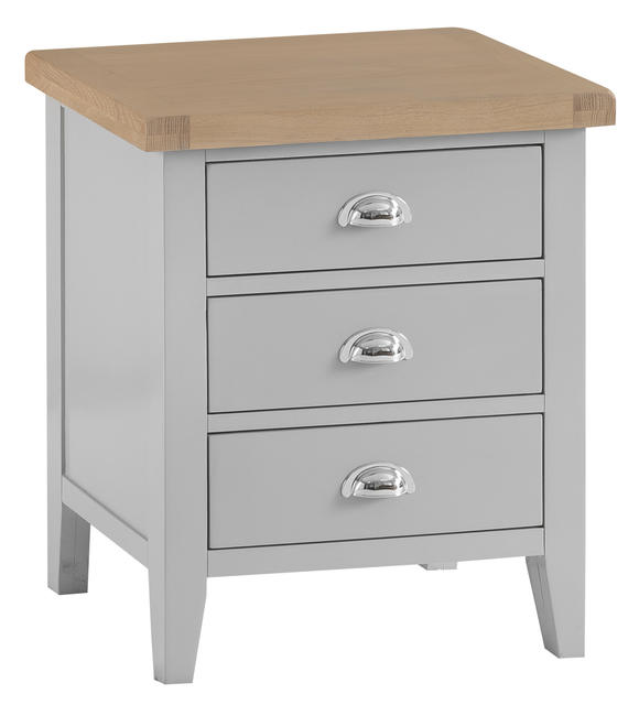 Verona Grey Extra Large Bedside Cabinet