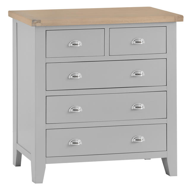 Verona Grey 2 over 3 Chest of Drawers
