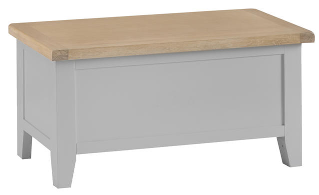 Verona Grey Blanket Box