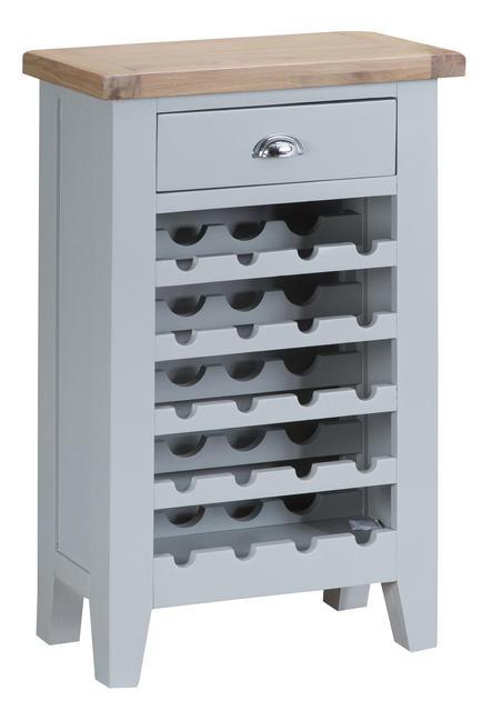 Verona Grey Wine Cabinet