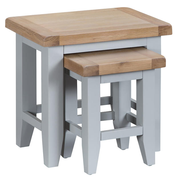 Verona Grey Nest of 2 Tables