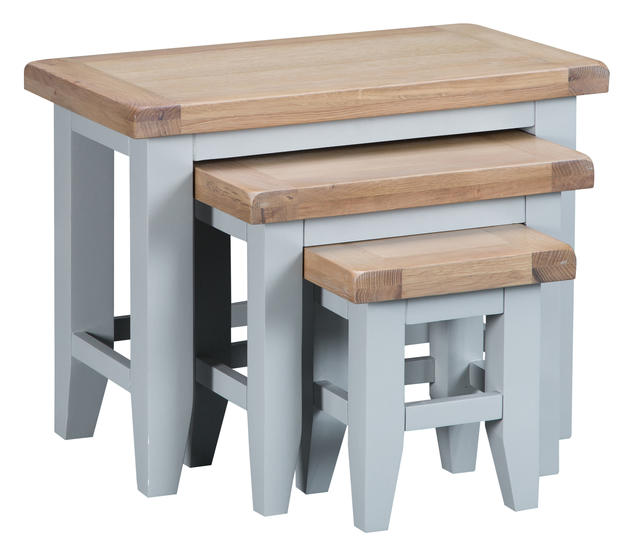 Verona Grey Nest of 3 Tables