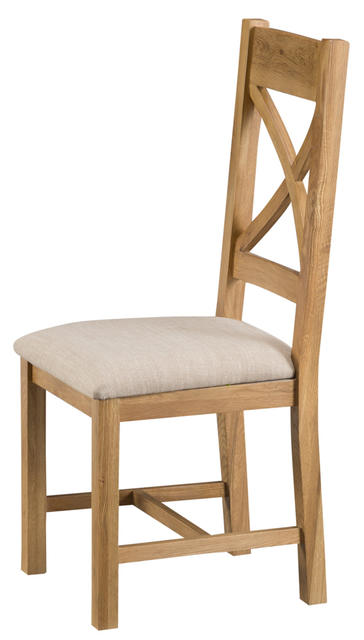 Roma Cross Back Chair with Fabric Seat