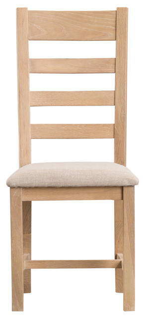 Milan Ladder Back Chair with Fabric Seat