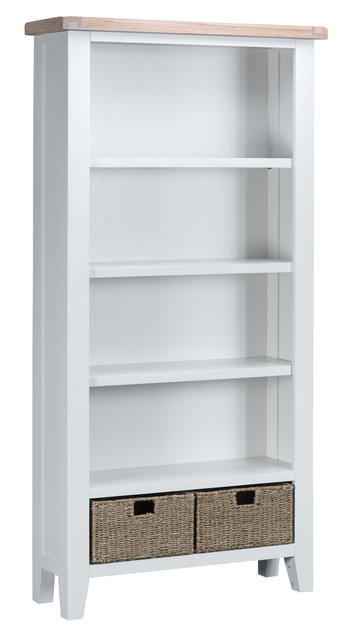 Verona White Large Bookcase