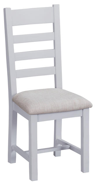 Verona Grey Ladder Back Chair with Fabric Seat
