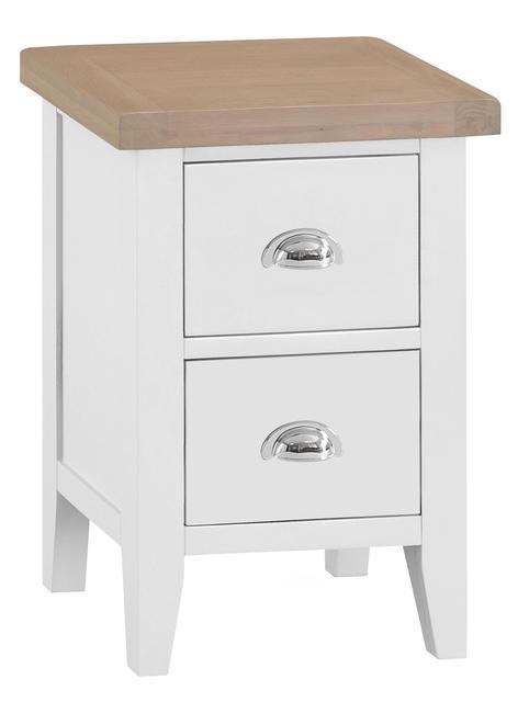 Verona White Small Bedside Cabinet