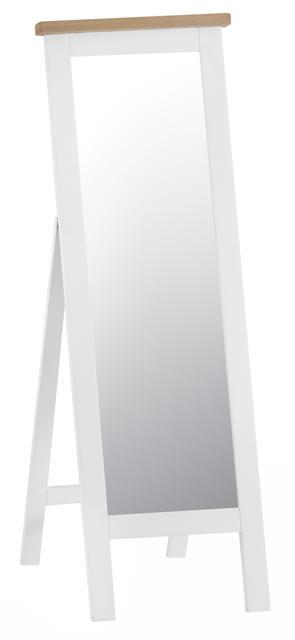 Verona White Cheval Mirror