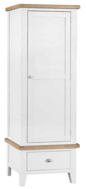 Verona White Single Wardrobe