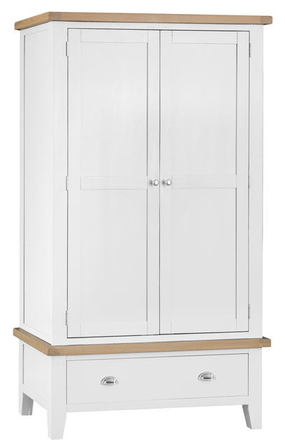 Verona White Large 2 Door Wardrobe