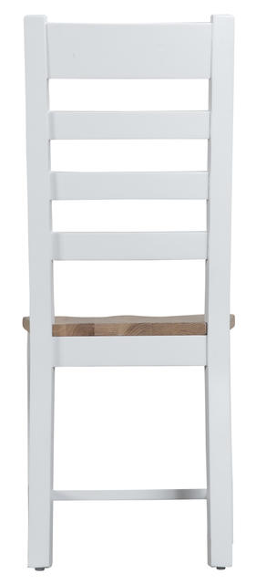 Verona White Ladder Back Chair with Wooden