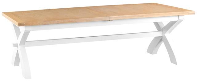 Verona White 2.5 mtr Cross Extending Table