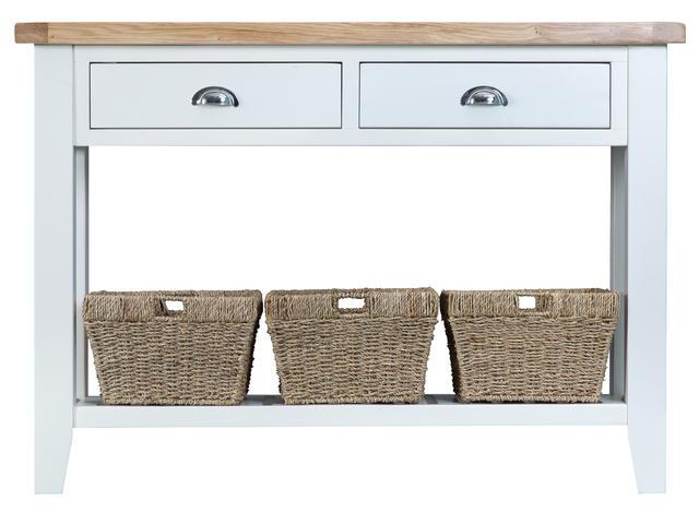 Verona White Large Console Table
