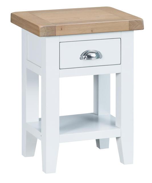 Verona White Side Table