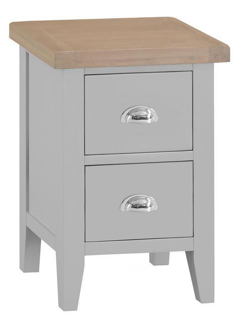 Verona Grey Small Bedside Cabinet