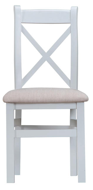 Verona Grey Cross Back Chair with Fabric Seat