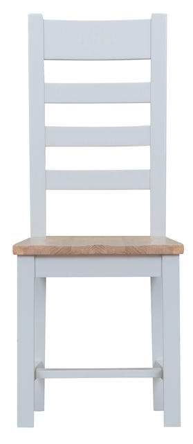 Verona Grey Ladder Back Chair with Wooden Seat