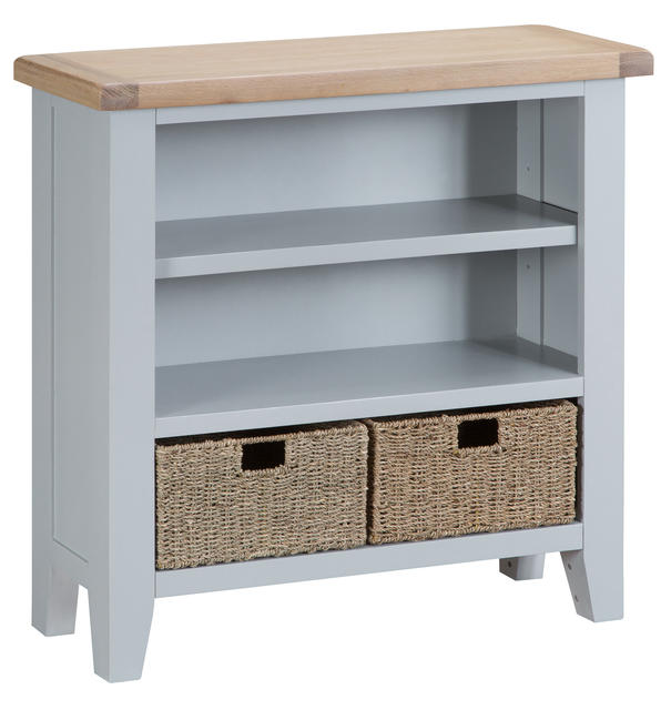 Verona Grey Small Wide Bookcase