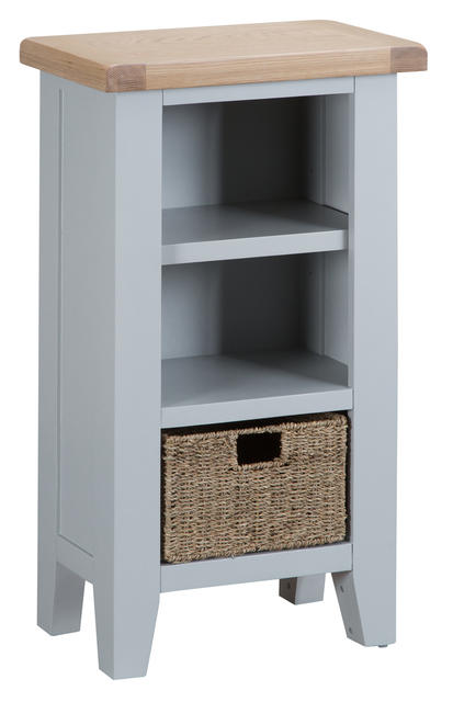 Verona Grey Small Narrow Bookcase