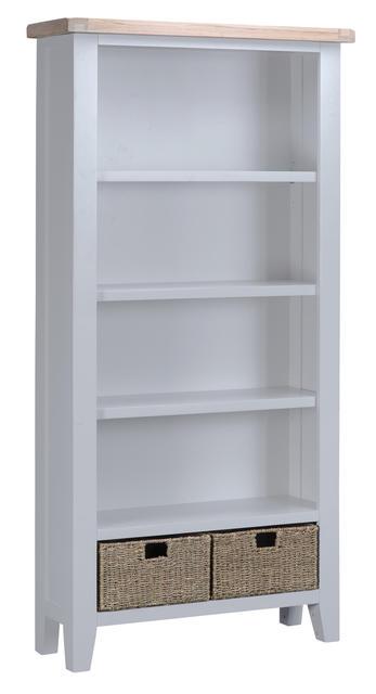 Verona Grey Large Bookcase