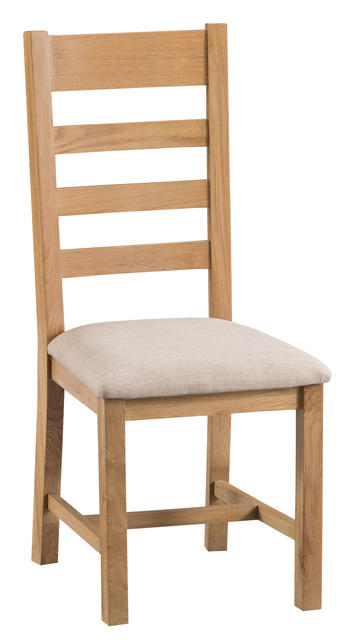 Roma Ladder Back Chair with Fabric Seat