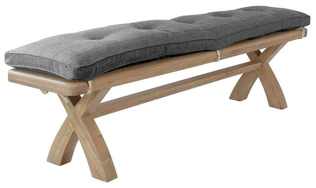 Sorrento Bench Cushion Grey Check