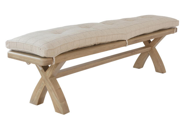 Sorrento Bench Cushion Natural Check