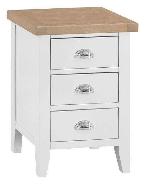 Verona White Large Bedside Cabinet