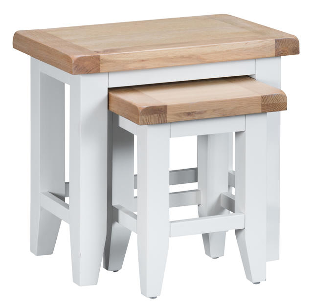 Verona White Nest of 2 Tables
