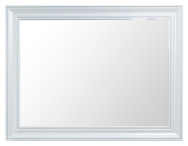 Verona White Large Wall Mirror